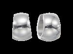 ZEG-01-E - By Q Basic huggie earrings of stainless steel