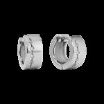 ZES-09-E - By Q Basic oorbellen stekers edelstaal met Swarovski