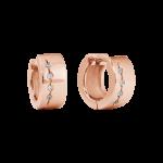 ZES-09-R - By Q Basic oorbellen stekers edelstaal met Swarovski