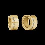 ZES-09-G - By Q Basic oorbellen stekers edelstaal met Swarovski