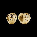 ZES-10-G - By Q Basic oorbellen stekers edelstaal met Swarovski