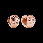 ZES-10-R - By Q Basic oorbellen stekers edelstaal met Swarovski