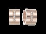 ZES-05-R - By Q oorbellen huggies edelstaal met Swarovski