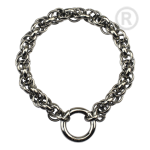 QK-S1-E - Dikke Jasseron armband edelstaal QK-S1-E