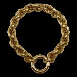 QK-S1-G - Dikke Jasseron armband  edelstaal QK-S1-G