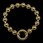 QK-S2-G - Dikke bolletjes armband edelstaal QK-S2-G
