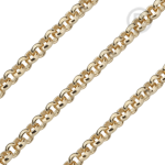 QK-EG  - Jasseron ketting edelstaal geel goud pvd verguld QK-EG