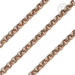 QK-ER - Jasseron ketting edelstaal rosé goud pvd verguld QK-ER