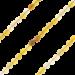 ZK-SP-S-GR-90 - Q collier van geslepen edelsteen