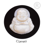 QMS-02L-X - Quoins Cameo Onyx & Mother of Pearl Buddha