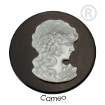QMS-01L-X - Quoins Cameo Onyx & Mother of Pearl