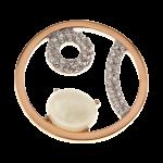QMOA-35L-R - Quoins Jewelz A Nod to Life Pink Gold rhodinated