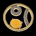 QMOA-35L-G - Quoins Jewelz A Nod to Life Yellow Gold rhodinated