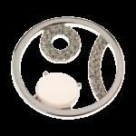 QMOA-35L-Z-W - Quoins Jewelz A Nod to Life rhodinated Z-W