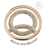 QMOA-36L-G - Quoins Jewelz Above and Beyond Yellow Gold rhodinated