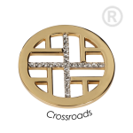 QMOA-17M-G - Quoins Jewelz Crossroads gold plated QMOA-17-G
