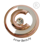 QMOA-40L-R - Quoins Jewelz Inner Beauty Pink Gold rhodinated