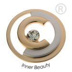 QMOA-40L-G - Quoins Jewelz Inner Beauty Yellow Gold rhodinated