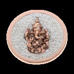 QMOA-30L-R - Quoins Jewelz Jewelz Ganesha Pink Gold rhodinated