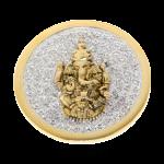 QMOA-30L-G - Quoins Jewelz Jewelz Ganesha Yellow Gold rhodinated