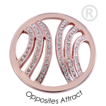 QMOA-39L-R - Quoins Jewelz Opposites Attracts Pink Gold rhodinated