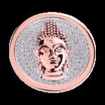 QMOA-29L-R - Quoins Jewelz Pang Par Lelai, Buddha, rhodinated Pink Gold - Swarovski