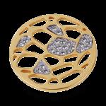 QMOA-20L-G - Quoins Jewelz Perfect Honeycomb gold plated QMOA-20-G