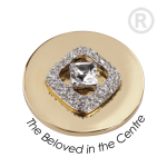 QMOA-23M-G - Quoins Jewelz The Beloved in the Centre gold plated QMOA-23-G