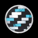 QQMON-10 - Quoins Mondriaans Choice - Onyx met Parelmoer en Turkoois