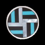 QQMON-11 - Quoins Mondriaans Choice - Onyx met Parelmoer en Turkoois