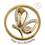 QMOK-17L-G-GL - Quoins Swarovski Elements Free as a Butterfly