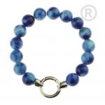 QK-J-BL  - Quoins armband regenboog Jade blauw