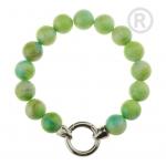 QK-J-GR  - Quoins armband regenboog Jade groen