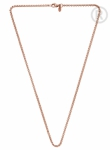 QK-ER6 - Quoins box chain necklace pink gold plated QK-ER5
