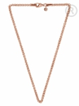 QK-ER7 - Quoins box chain necklace pink gold plated QK-ER5