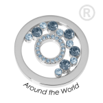 QMOK-33M-E-BL - Quoins disks: Swarovski Elements