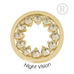 QMOK-37M-G-GL - Quoins disks: Swarovski Elements