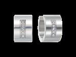 ZES-05-E - Quoins earringsof stainless steel
