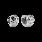 ZES-10-E - Quoins earringsof stainless steel