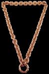QK-S5-R - Quoins halsketting brons rosè goud