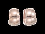 ZEG-01-R - Quoins huggie earings of stainless steel