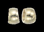 ZEG-01-G - Quoins huggie earrings of stainless steel