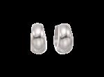 ZEG-02-E - Quoins huggie earrings of stainless steel