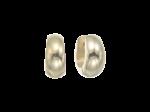 ZEG-02-G - Quoins huggie earrings of stainless steel