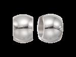 ZEG-03-E - Quoins huggie earrings of stainless steel