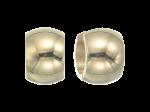 ZEG-03-G - Quoins huggie earrings of stainless steel