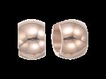 ZEG-03-R - Quoins huggie earrings of stainless steel