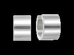 ZEG-05-E - Quoins huggie earrings of stainless steel