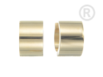 ZEG-05-G - Quoins huggie earrings of stainless steel
