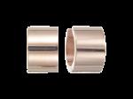 ZEG-05-R - Quoins huggie earrings of stainless steel